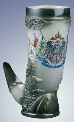 German Beer Stein Horn with Deutschland Crest